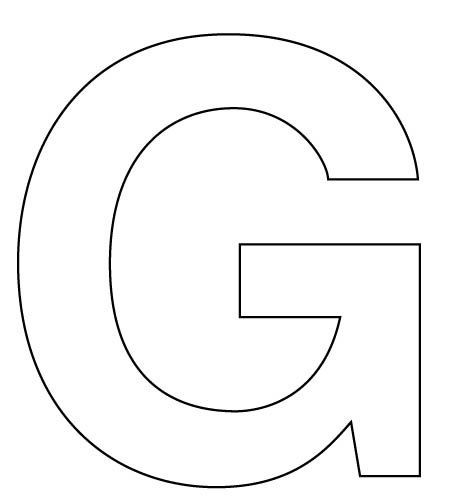 letter g cut out template  G - Dr