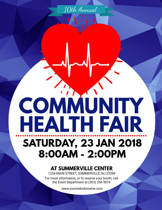health fair flyer template free download  Health Fair Flyer Template | PosterMyWall - health fair flyer template free download