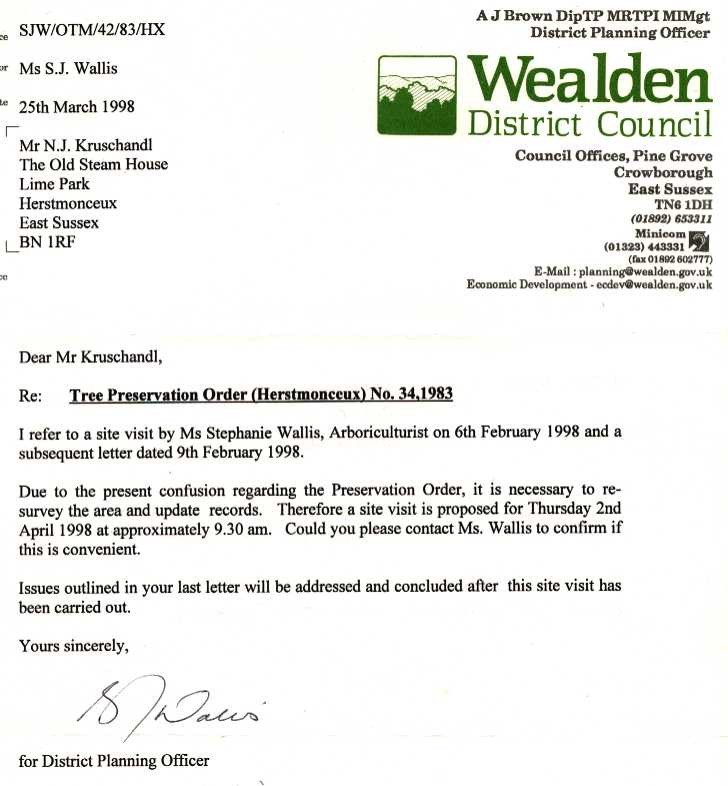 sample request letter for permission to cut trees  HERSTMONCEUX COSTS SCANDAL WEALDEN DISTRICT COUNCIL EAST ..