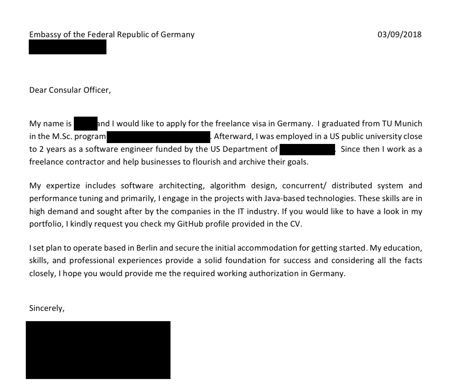 motivation letter for german embassy  How to apply for the German Freelance Visa - All About Berlin - motivation letter for german embassy