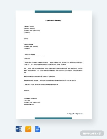 sample request letter for house renovation  How to Write a Thank You Letter for Donation [ 10 ..
