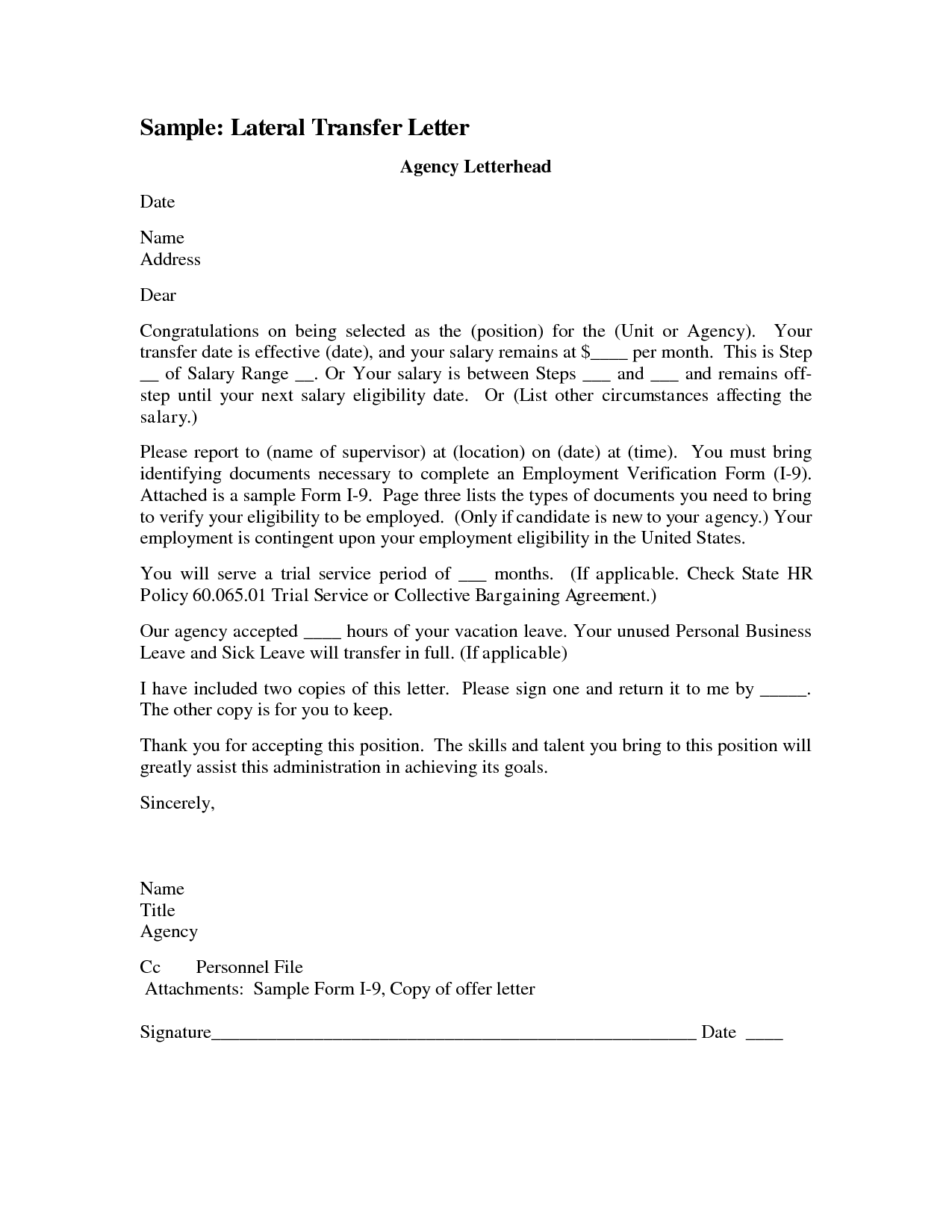 sample request letter for job reassignment  Letter Template Category Page 1 - efoza