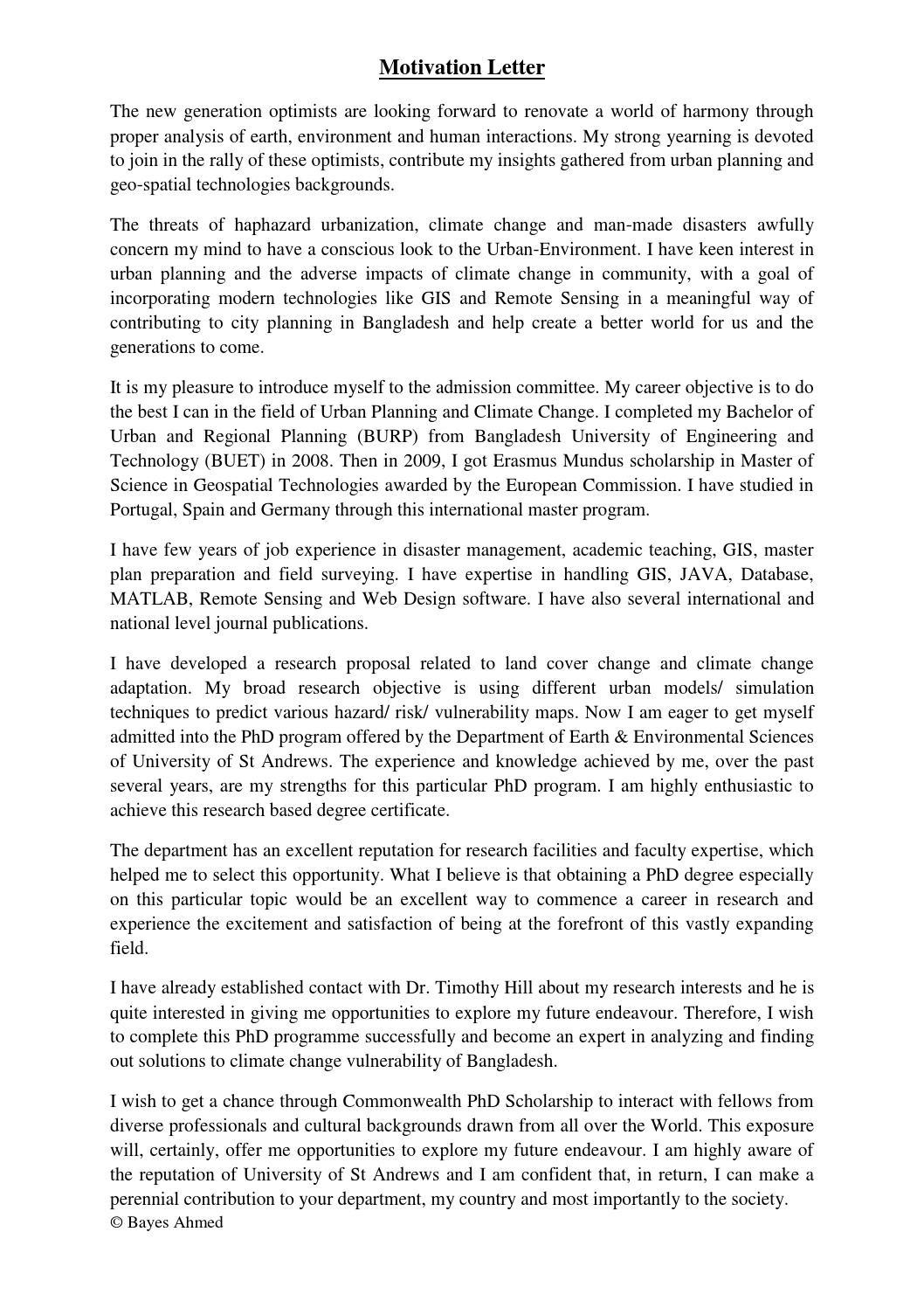 motivation letter sample for university bachelor  Motivation Letter_Bayes by Bayes Ahmed - Issuu - motivation letter sample for university bachelor