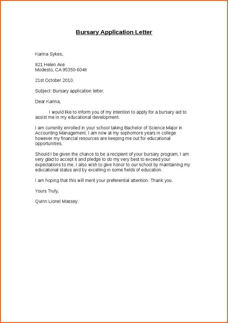 motivational letter motivation letter for funding  motivational letter for bursary application - Yahoo Image ..