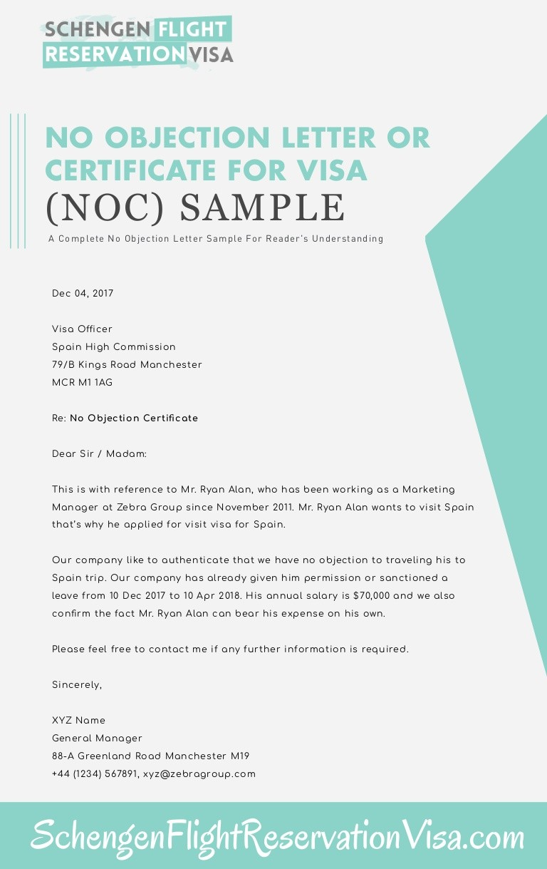 no objection certificate to employee  No Objection Letter Or Certificate Sample - no objection certificate to employee