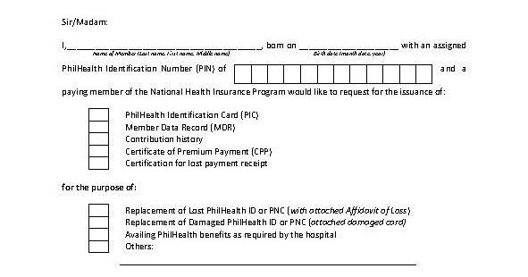 sample request letter for lost receipt  PhilHealth 101: Sample PhilHealth Request Letter - sample request letter for lost receipt