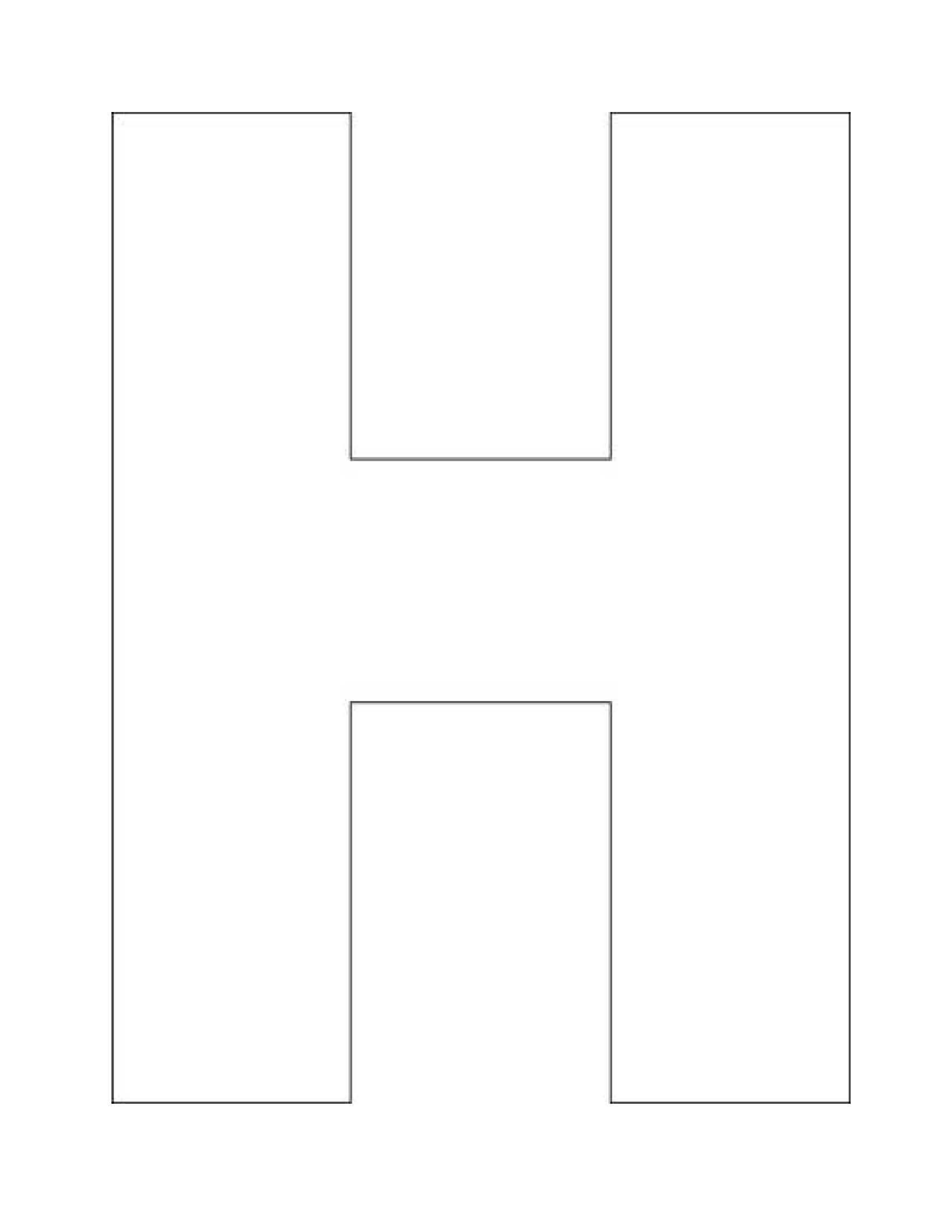 letter h template free printable  Pin en Letter H - letter h template free printable