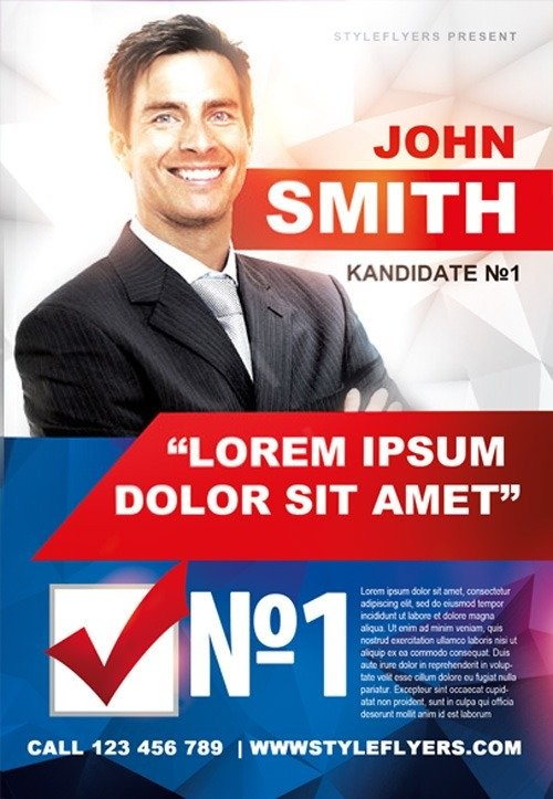 election flyer template free download  Political Campaign Free Flyer Template - Download for ..