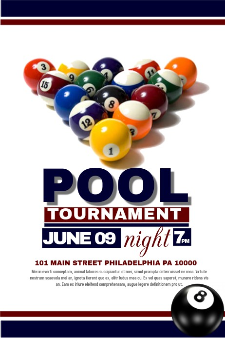 pool tournament flyer template free download  Pool Tournament Template | PosterMyWall - pool tournament flyer template free download