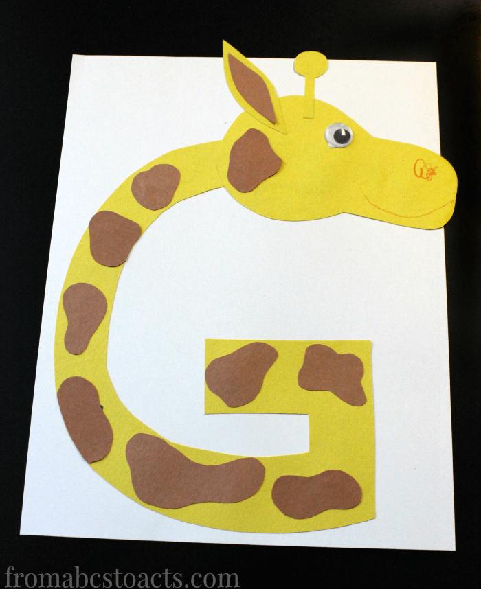 letter g giraffe craft template  Preschool Alphabet Book: Uppercase Letter G | From ABCs to ..