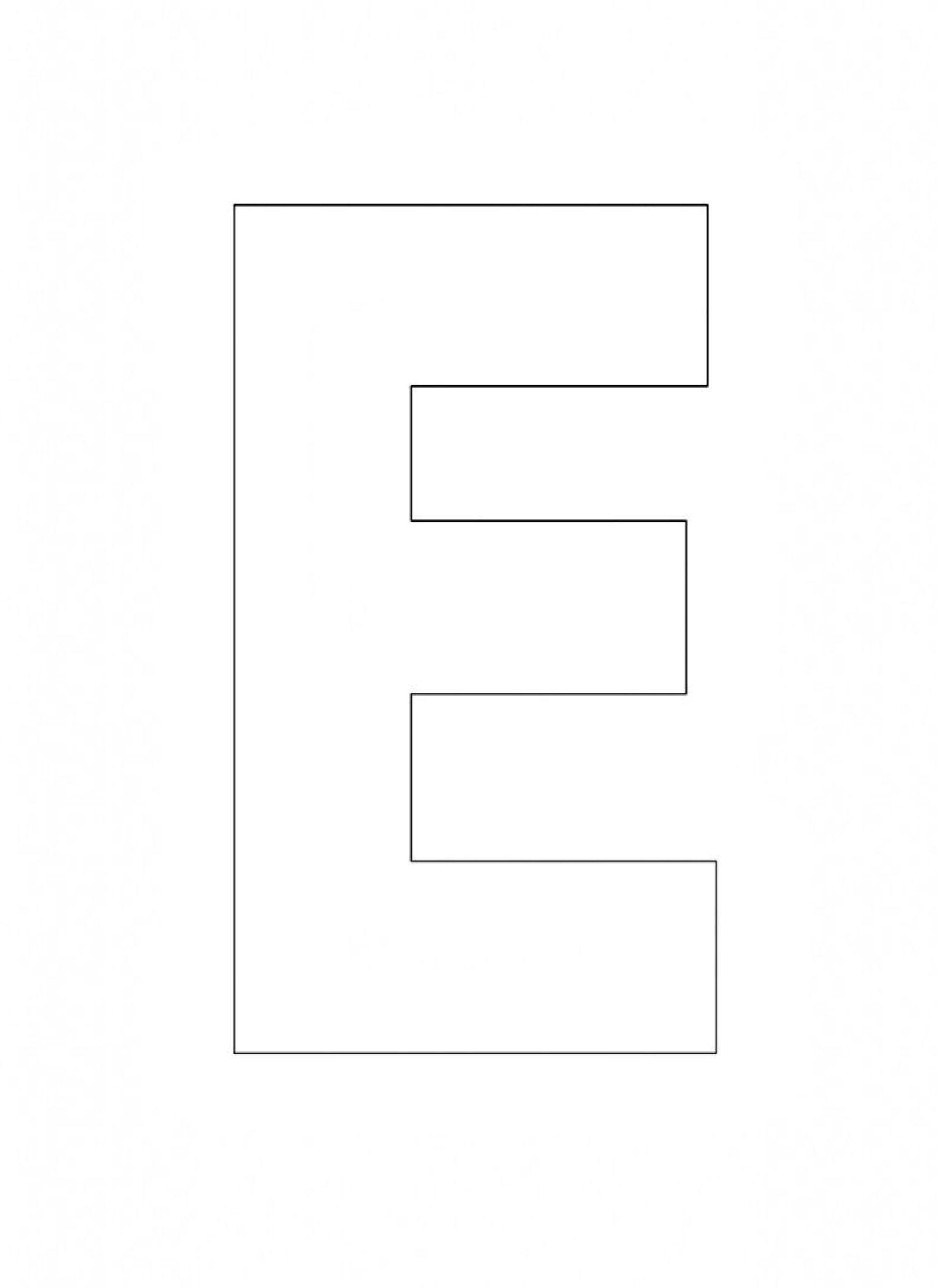 letter template alphabet  Printable Alphabet Letter E Template! Alphabet Letter E ..