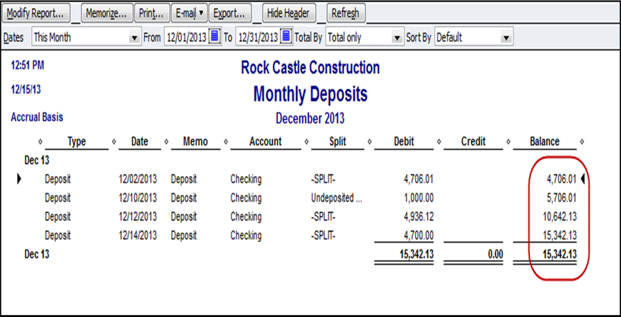 bank statement 3 months  QuickBooks Report of Monthly Deposits - Long for Success, LLC - bank statement 3 months