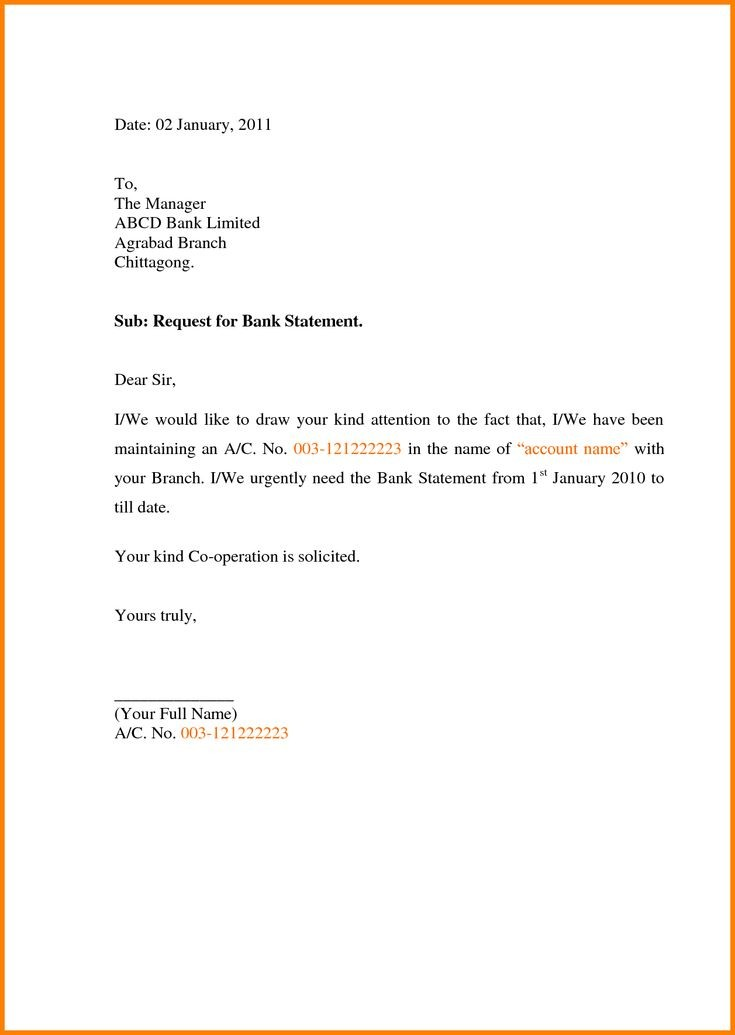 bank statement request letter sample  Sample Letter Requesting Bank Statements | Application ..