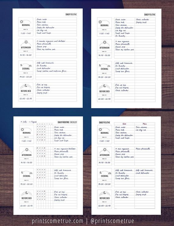3 day planner template  Set of 3 / Daily, Weekly Routines, Zone Cleaning / Flylady ..