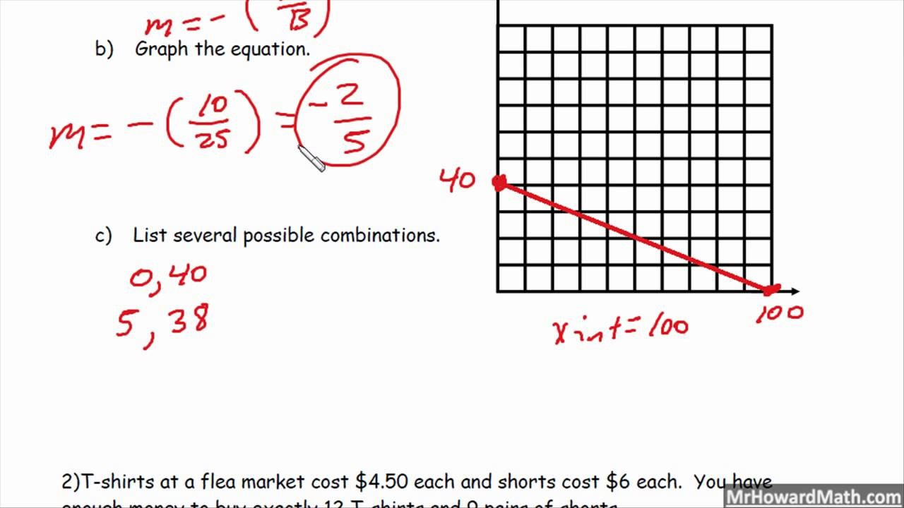 standard form word problems worksheet answers  Standard Form Linear Equation Word Problems - YouTube - standard form word problems worksheet answers