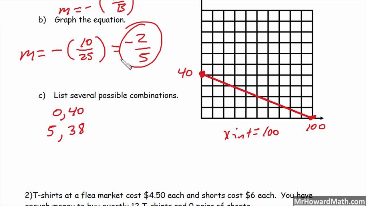 standard form word problems worksheet  Standard Form Linear Equation Word Problems - YouTube - standard form word problems worksheet