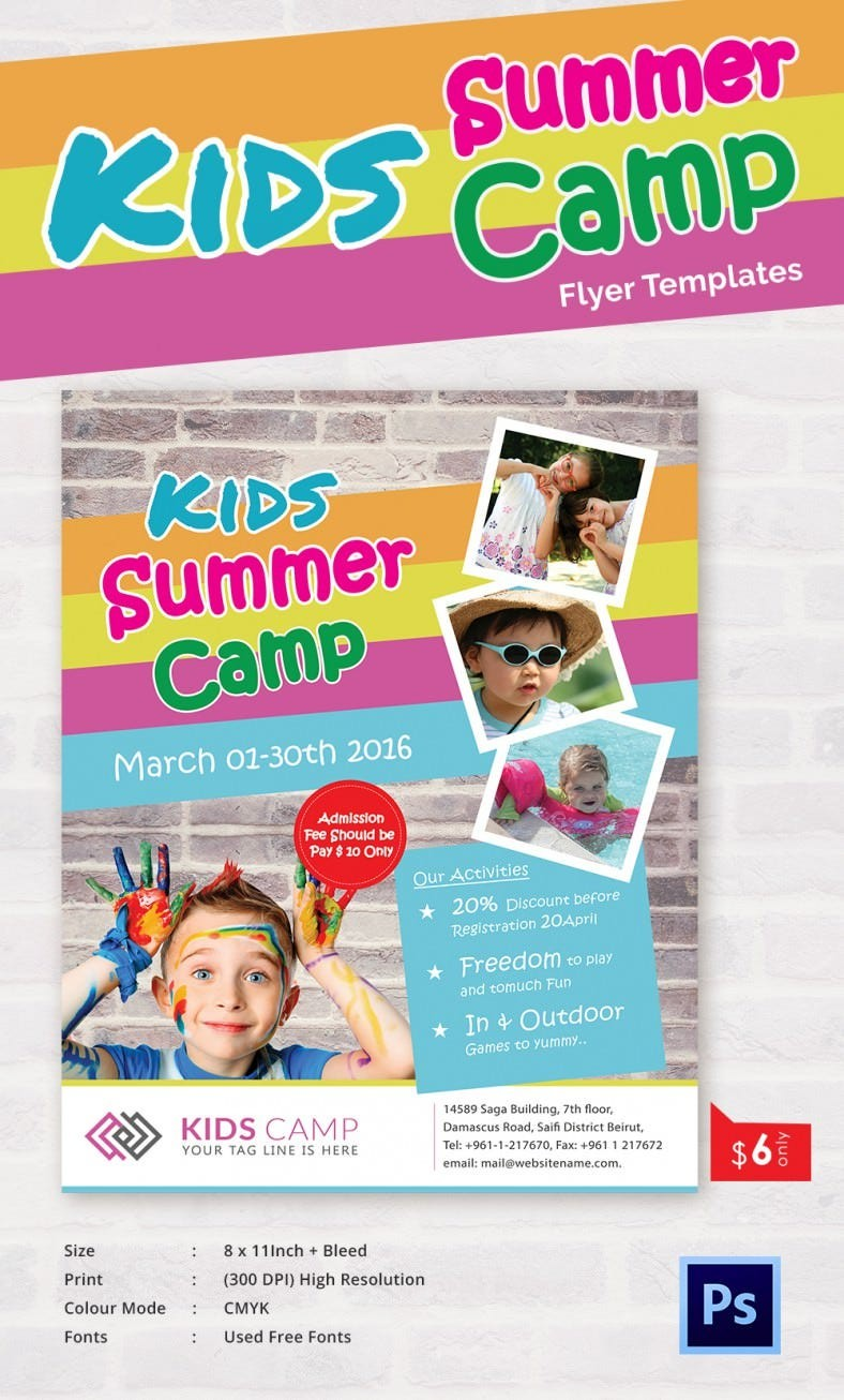 summer flyer template free download  Summer Camp Flyer Templates – 47+ Free JPG, PSD, ESI ..