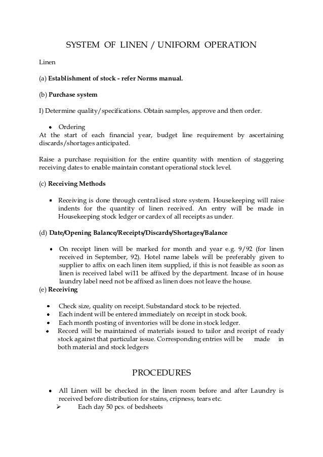 template uniform request form  System of linen uniform operation - template uniform request form