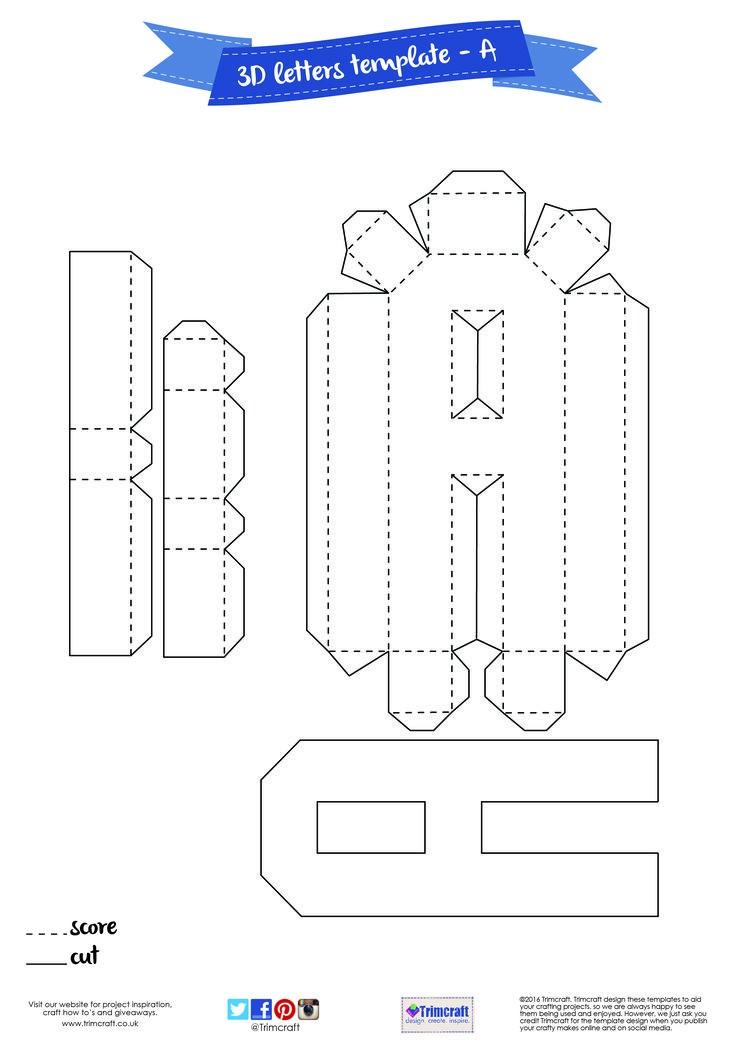 3d letters template cut out  The 8 best 3D letter template images on Pinterest | 3d ..