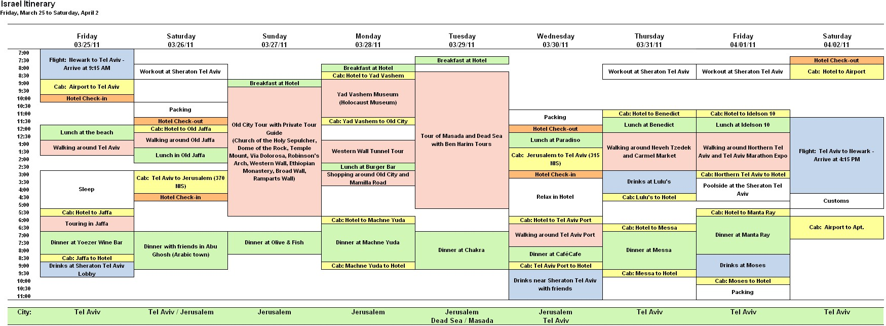 5 day calendar template excel  Travel Schedule Template Excel – printable schedule template - 5 day calendar template excel