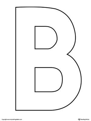 capital b letter template  Uppercase Letter B Template Printable (With images ..