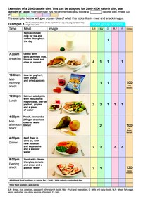 meal plan 2500 calories  2500 Calorie Meal Plan Pad | Nutrition and Diet Resources - meal plan 2500 calories