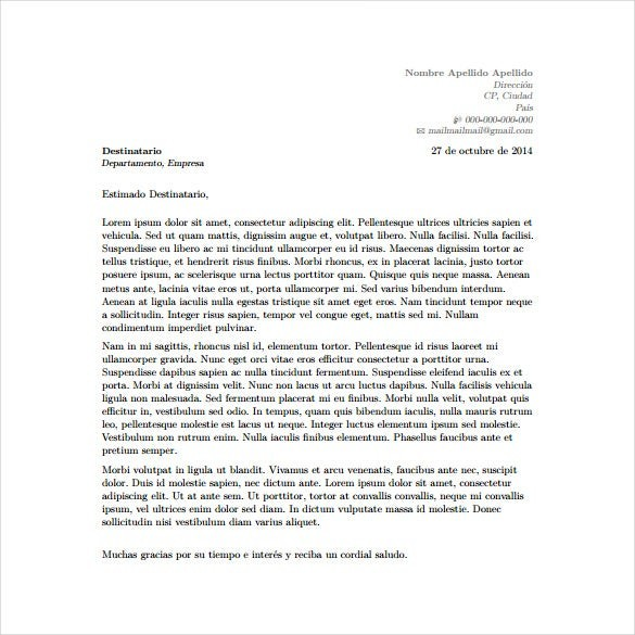 cover letter template latex  5+ Latex Cover Letter Templates - Free Sample, Example ..