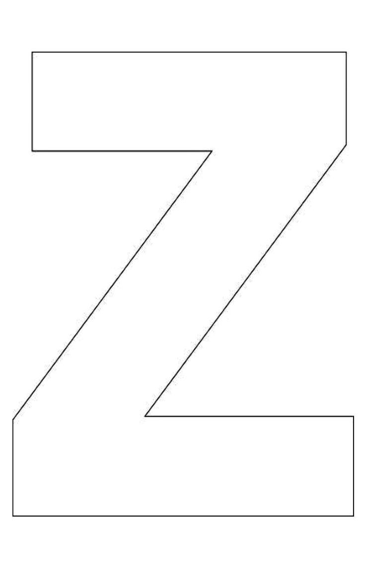 preschool letter z template  Alphabet-Letter-Z-Template-For-kids | LECTOESCRITURA ..