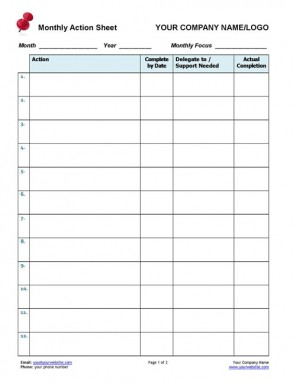 0 based budget template instructions  Business Coaching - Monthly Action Tracker | Coaching ..
