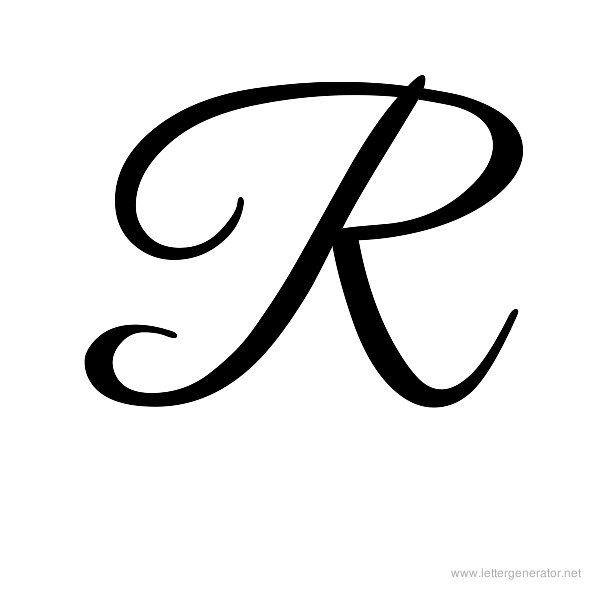 fancy letter r template  Cursive Letters Alphabet Gallery - Free Printable ..