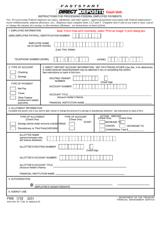 5 3 direct deposit form  Fillable Fms Form 11-92 - Employee Information printable ..
