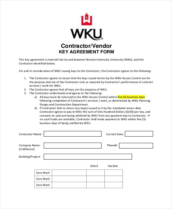 employee uniform agreement form  FREE 10+ Sample Contractor Agreement Forms in PDF   MS ..