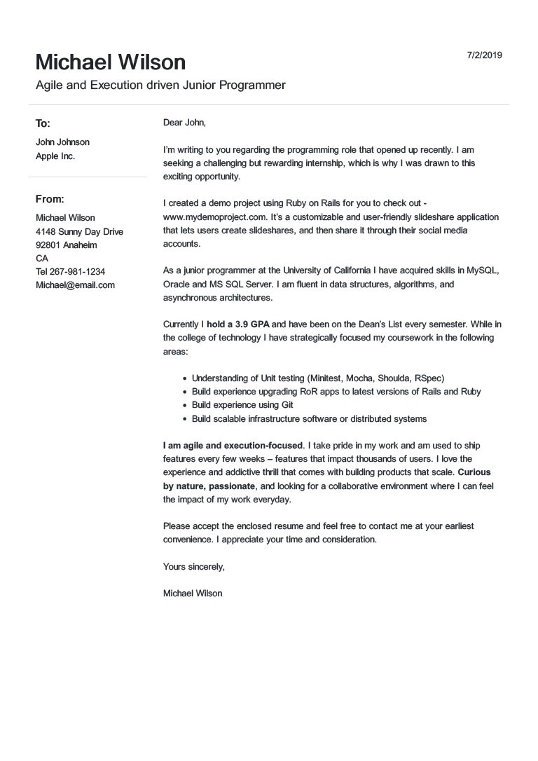 cover letter template 2020  Free Cover Letter Templates You can Fill in and Download ..