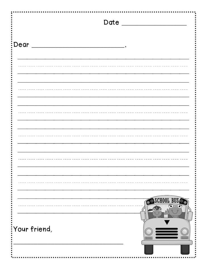 friendly letter template 2nd grade  Friendly Letter Template For 2Nd Grade | theveliger - friendly letter template 2nd grade