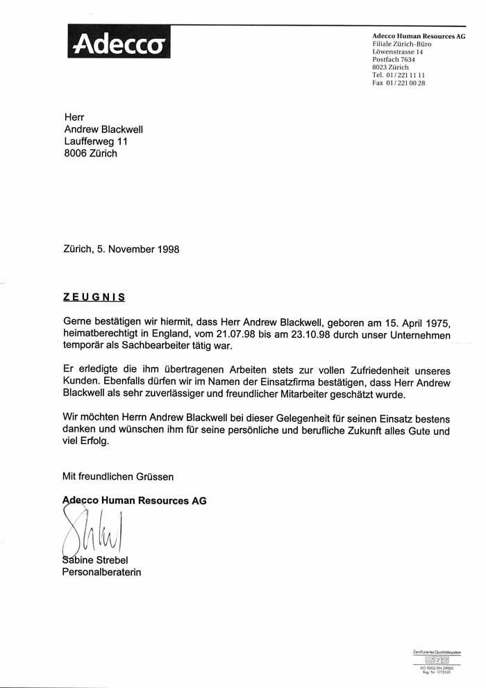 letter template german  German Business Letter Format | Sample Business Letter - letter template german