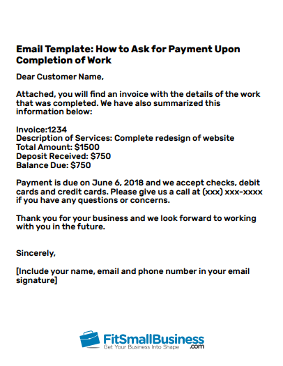 letter template how to ask for payment of an invoice politely email  How to Ask for Payment in an Email: [+3 Professional Email ..