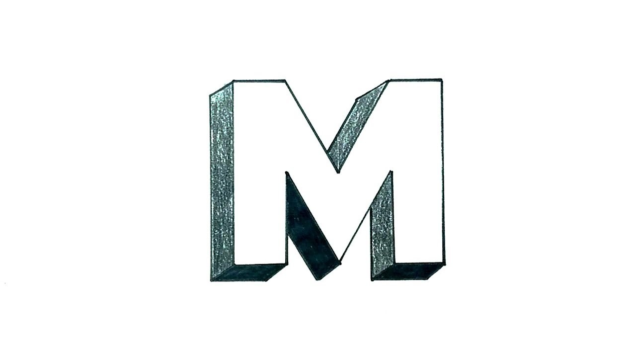 3d letter m template  How to Draw the Letter M in 3D - YouTube - 3d letter m template