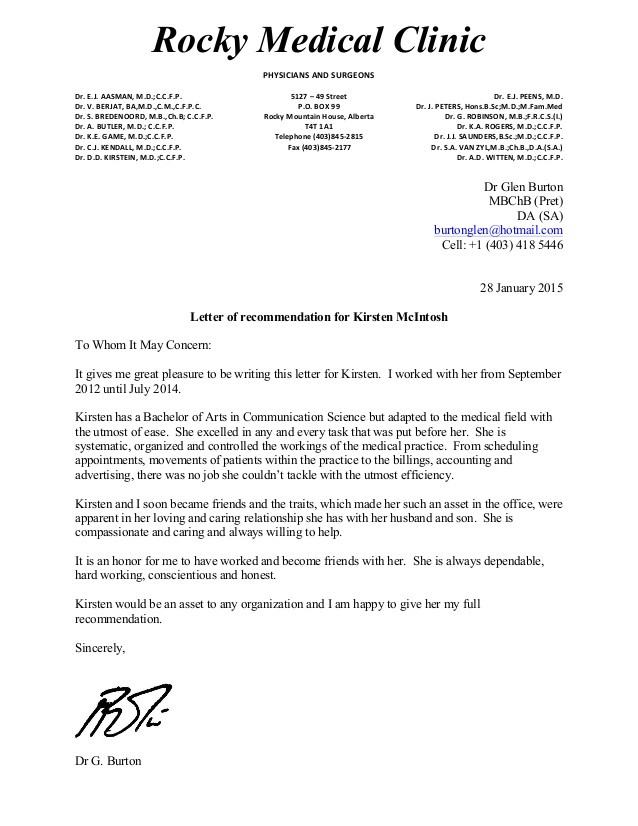 recommendation letter md  kirst reference letter - recommendation letter md
