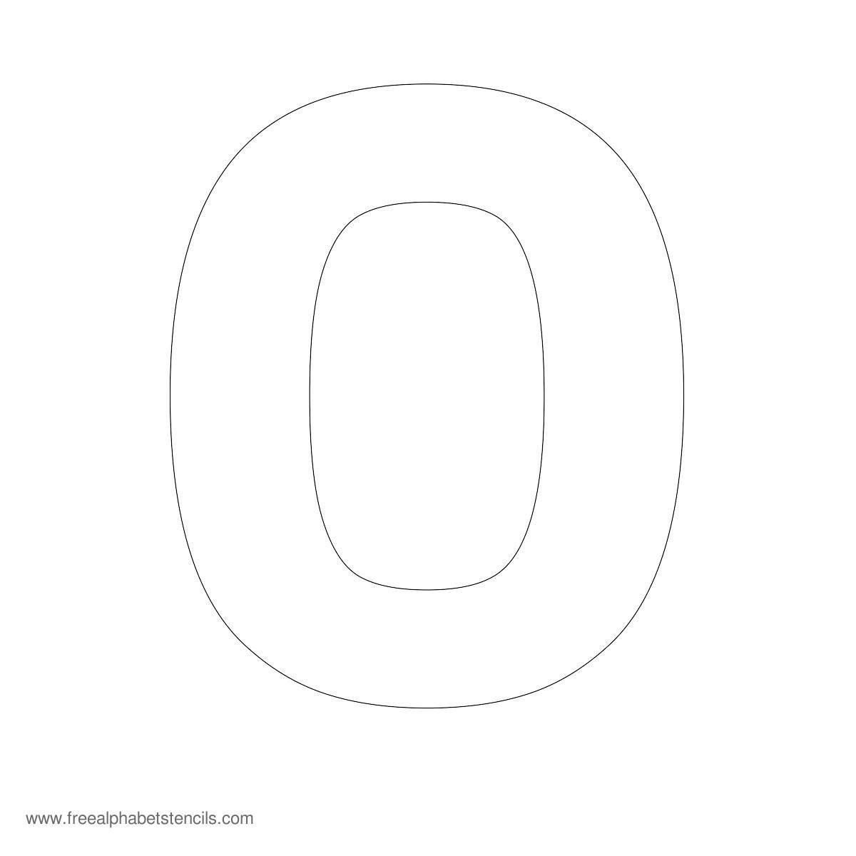 letter o stencil template  Large Alphabet Stencils - FreeAlphabetStencils