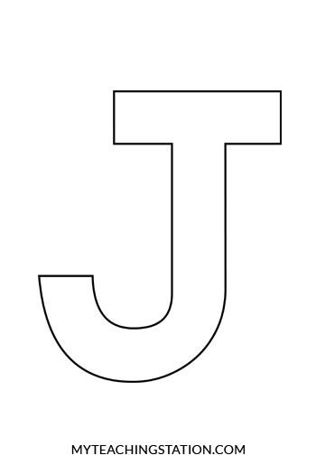letter j craft template  Letter J Craft: Jet   MyTeachingStation