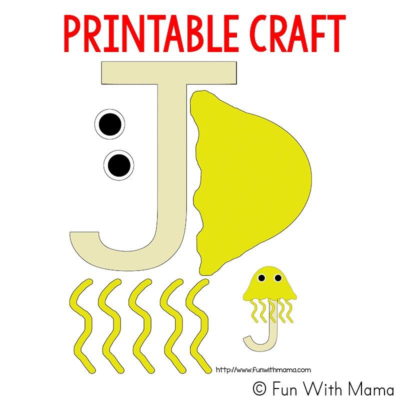 letter j craft template  Letter J Worksheets + Activities - Fun with Mama - letter j craft template