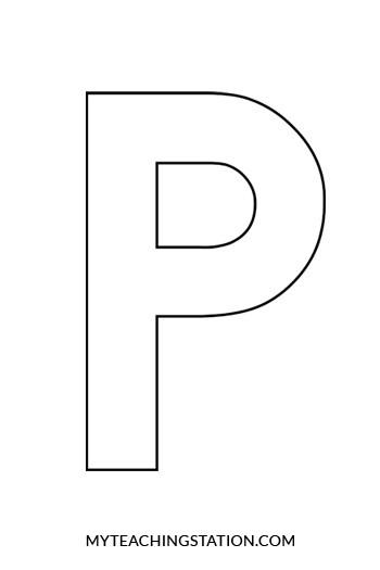 letter p craft template  Letter P Craft: Penguin | MyTeachingStation