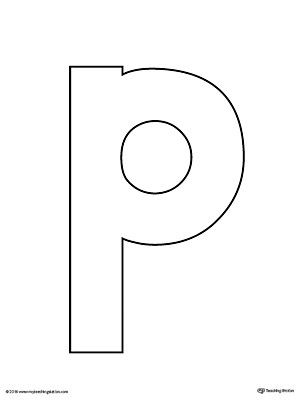 lowercase letter p template  Letter P Do-A-Dot Worksheet | MyTeachingStation