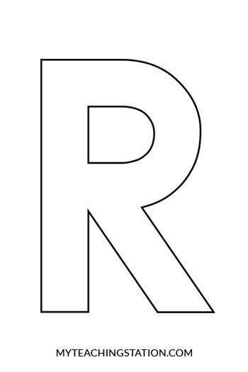 letter r craft template  Letter R Craft: Raccoon | MyTeachingStation