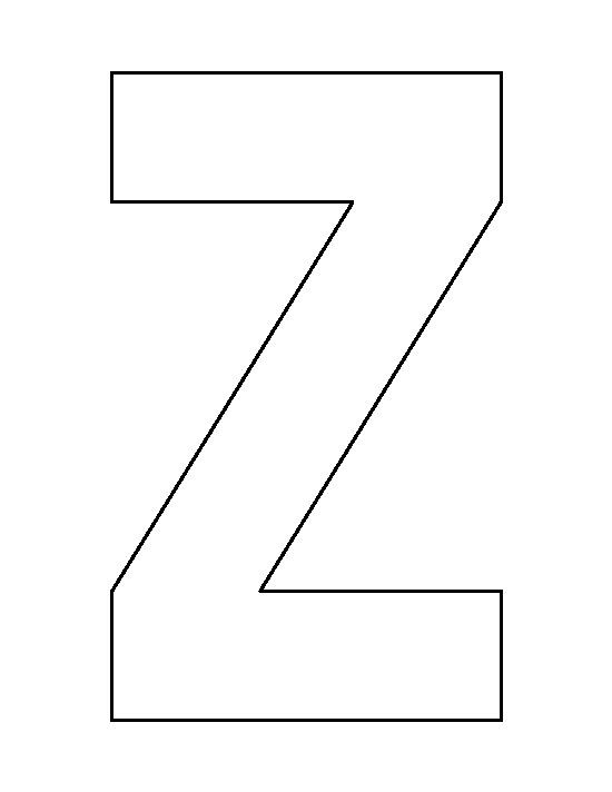 free printable letter z template  Letter Z pattern. Use the printable outline for crafts ..