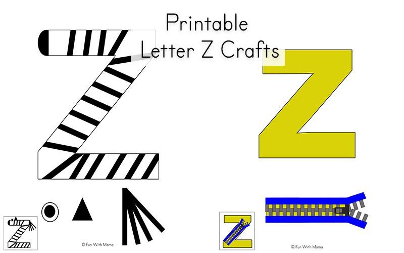 printable template letter z crafts  Letter Z Worksheets For Preschool + Kindergarten - Fun ..