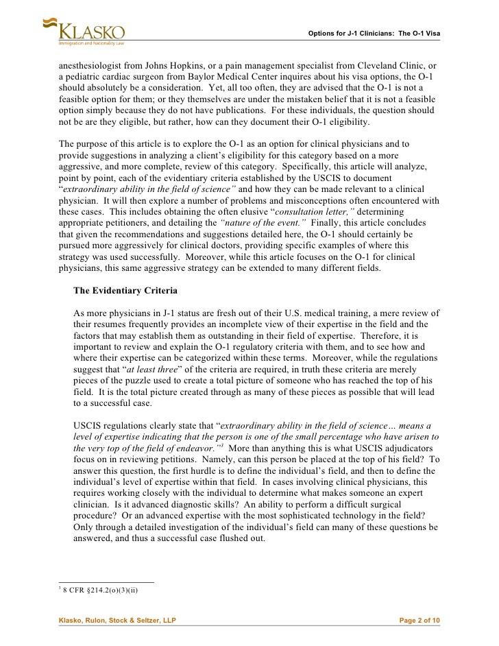 o 1 visa recommendation letter  Options for J-1 Clinicians: The O-1 Visa - o 1 visa recommendation letter