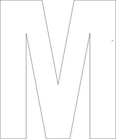 letter m cake template  Pin by Muse Printables on Printable Patterns at ..
