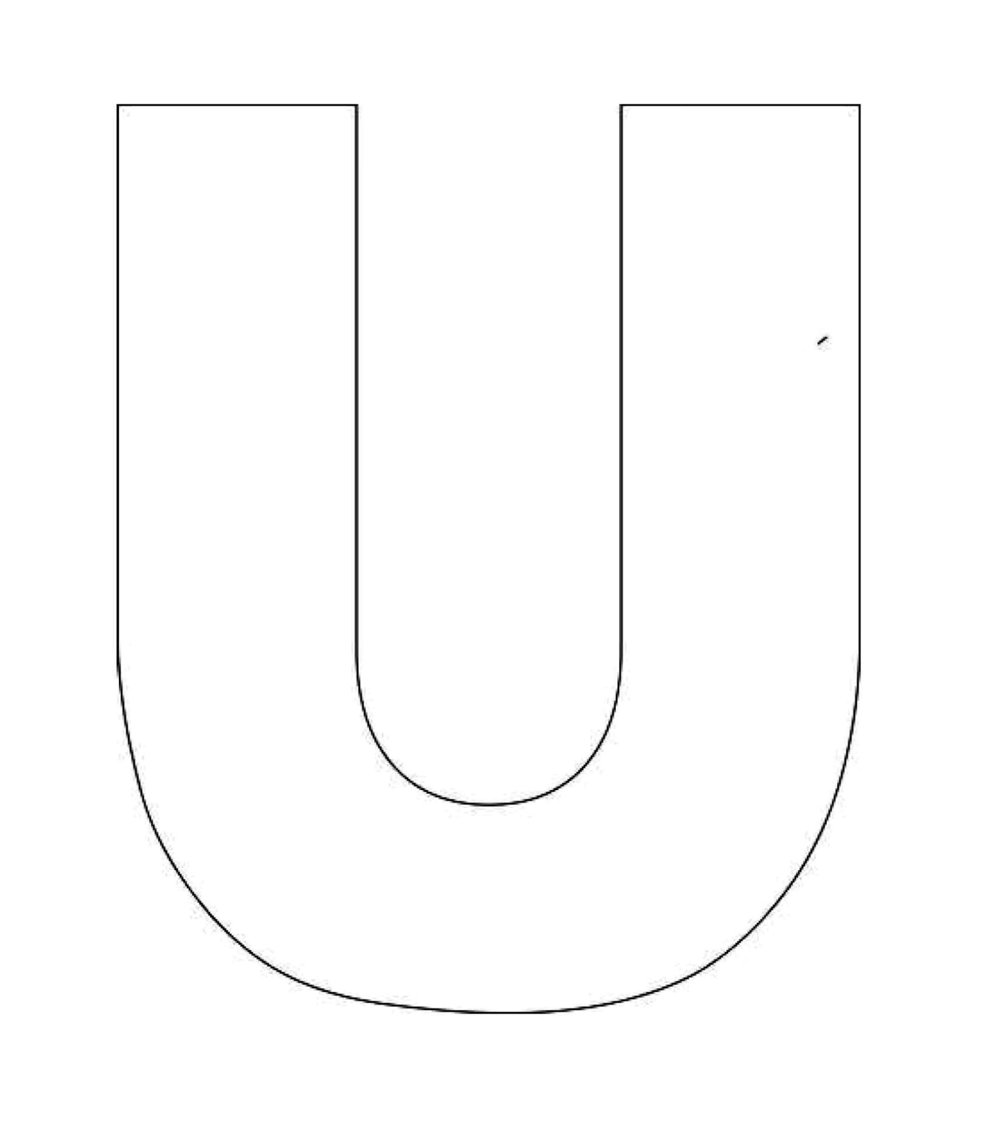 capital letter u template  Printable Alphabet Letter U Template! Alphabet Letter U ..
