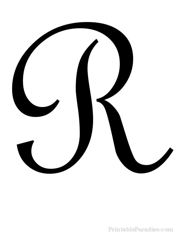 fancy letter r template  Printable Cursive Letter R - Print Letter R in Cursive ..